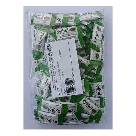 Chicle Xylitol Miradent bolsa 100x2 uds Sabor Te Verde