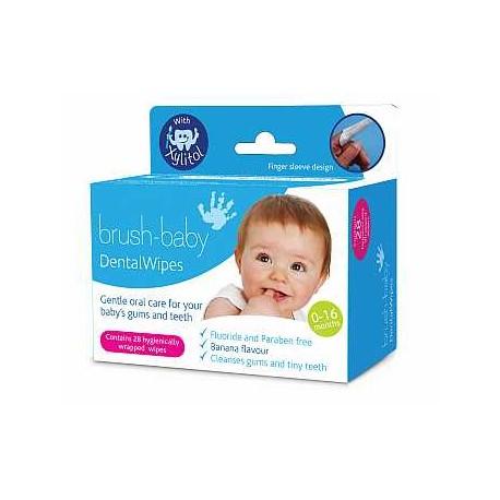 Toallitas con Xylitol para limpieza dental Brush Baby