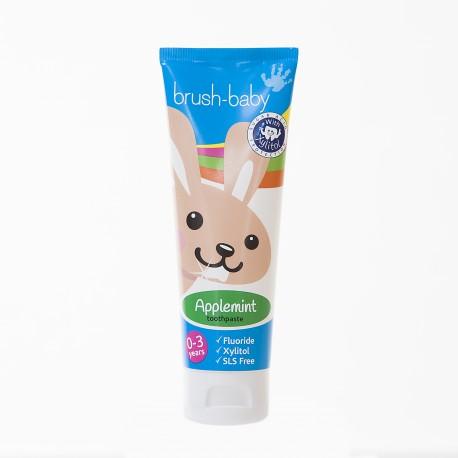 Pasta dental con Xylitol Bruhs-Baby sabor Manzana (0-3 años)