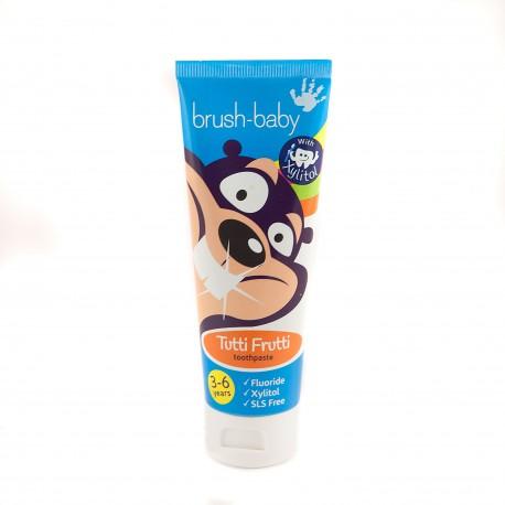 Pasta dental con Xylitol Bruhs-Baby sabor TuttiFrutti (3-6 años)