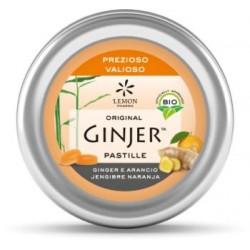 Ginjer pastillas BIO Jengibre-Naranja lata 40gre lata 40 gr BIO