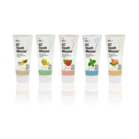 GC Tooth Mousse bote 40 gr 5 uds. sabores surtidos