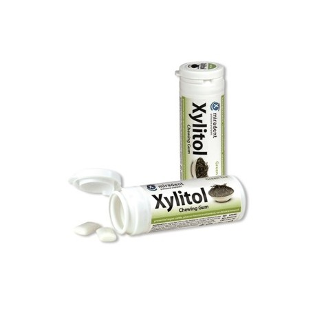 Chicle Xylitol sabor Te Verde bote 30 gr
