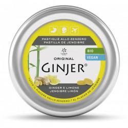 Ginjer pastillas BIO Jengibre-Limón lata 40gre lata 40 gr BIO