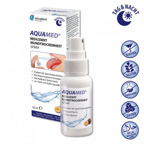 AQUAMED SPRAY ORAL BOCA SECA CON XILITOL 30 ML