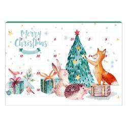 Calendario adviento Navidades 2019 de chocolate con leche y xilitol