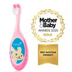 FLOSSBRUSH CEPILLO INFANTIL 0-3 AÑOS COLOR ROSA