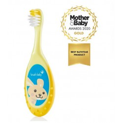 FLOSSBRUSH CEPILLO INFANTIL 0-3 AÑOS COLOR AMARILLO