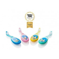 PACK DE 4 FLOSSBRUSH CEPILLO INFANTIL 0-3 AÑOS COLOR AZUL